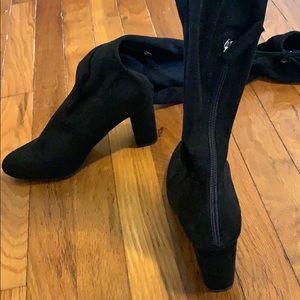 Black Francesca's Over the Knee Suede Boots